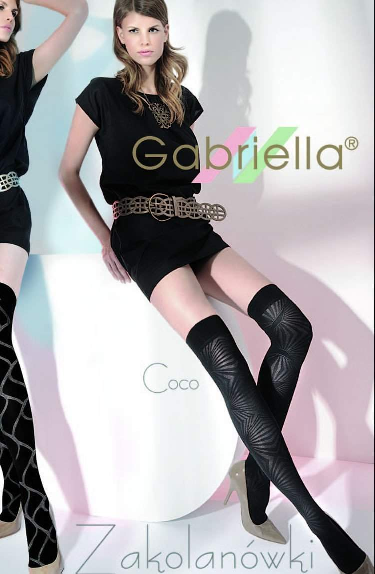 Coco Knee Highs in Nero by Gabriella - Gabriella - Katys Boutique Lingerie USA