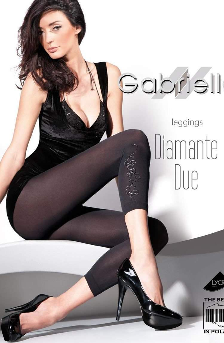 Leggings in Nero by Gabriella - Gabriella - Katys Boutique Lingerie USA