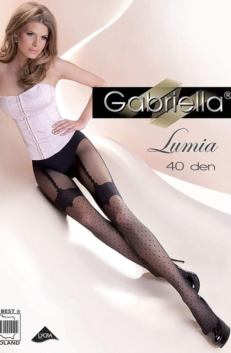 Fantasia Lumia Tights in Nero by Gabriella - Gabriella - Katys Boutique Lingerie USA
