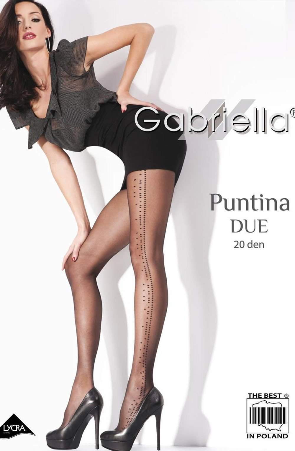 Fantasia Putina Due Tights in Nero by Gabriella - Gabriella - Katys Boutique Lingerie USA
