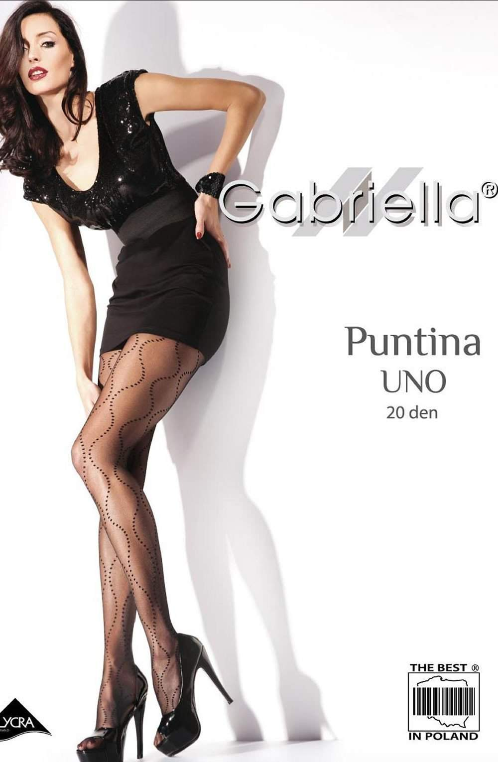 Fantasia Putina Uno Tights in Nero by Gabriella - Gabriella - Katys Boutique Lingerie USA