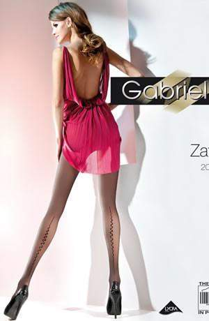 Fantasia Zafira Tights in Nero by Gabriella - Gabriella - Katys Boutique Lingerie USA
