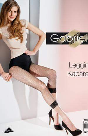 Kabarette Fishnet Leggings in Nero by Gabriella - Gabriella - Katys Boutique Lingerie USA