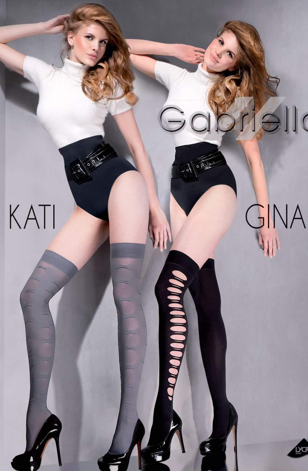 Kati Knee Highs in Smoke by Gabriella - Gabriella - Katys Boutique Lingerie USA