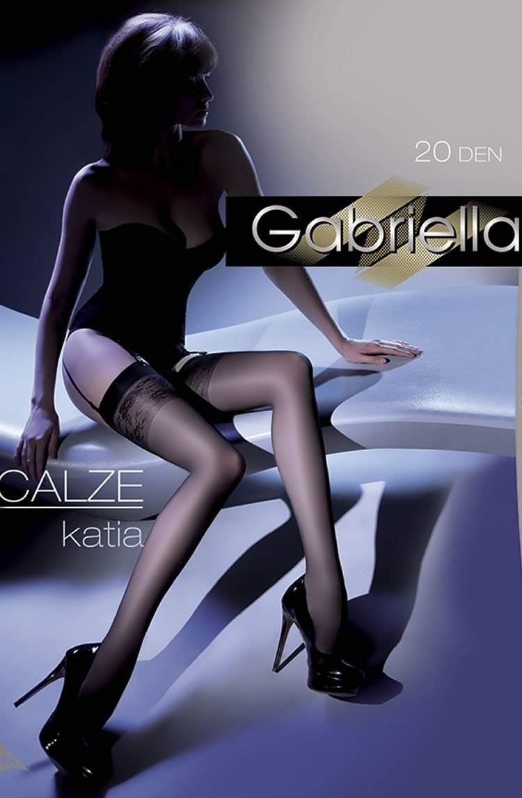 Katia Stockings in Nero by Gabriella - Gabriella - Katys Boutique Lingerie USA