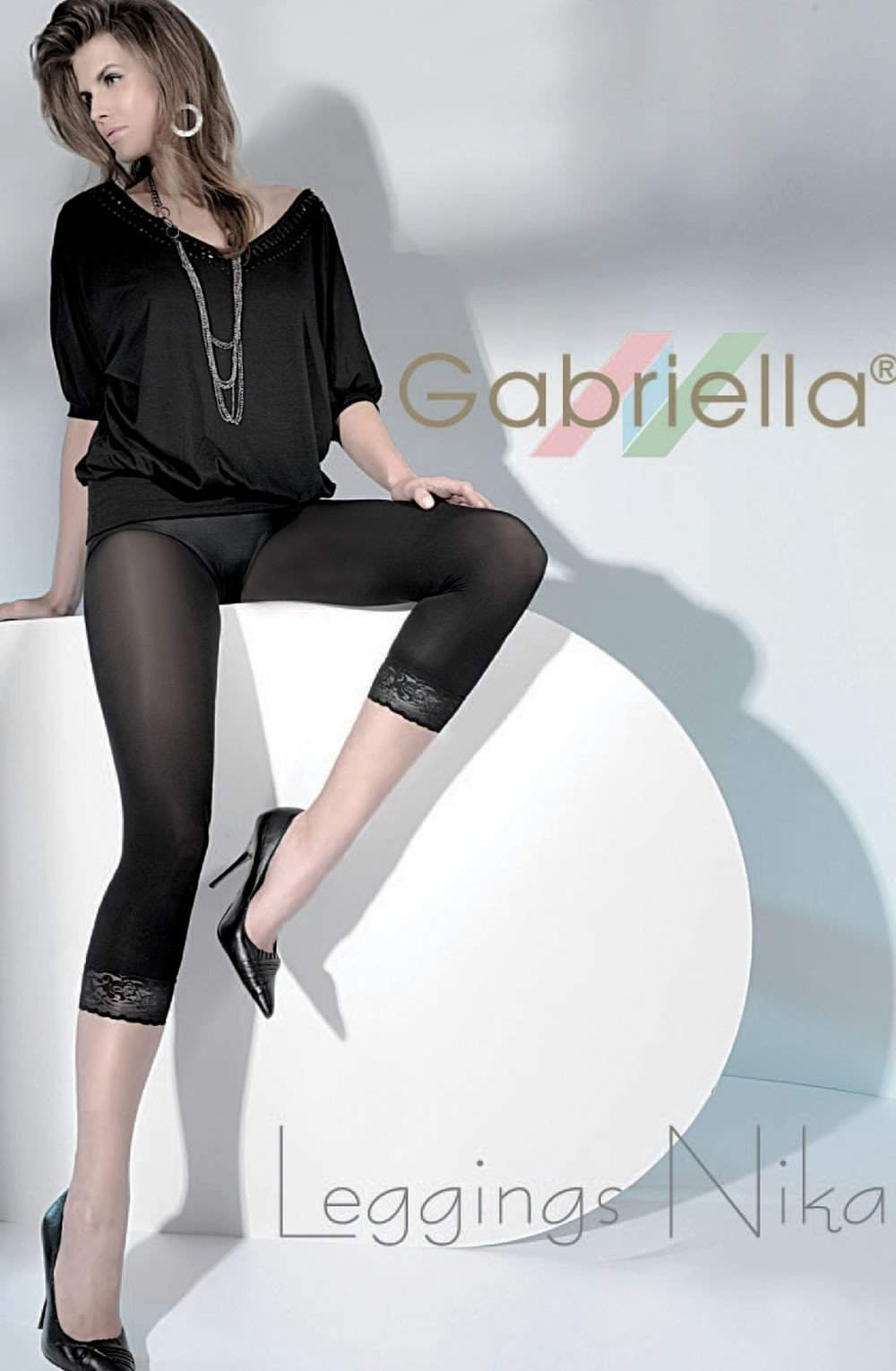 Nika Leggings in Nero by Gabriella - Gabriella - Katys Boutique Lingerie USA