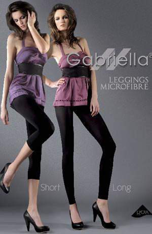 Short Leggings 60 Denier in Nero by Gabriella Lingerie - Gabriella - Katys Boutique Lingerie USA
