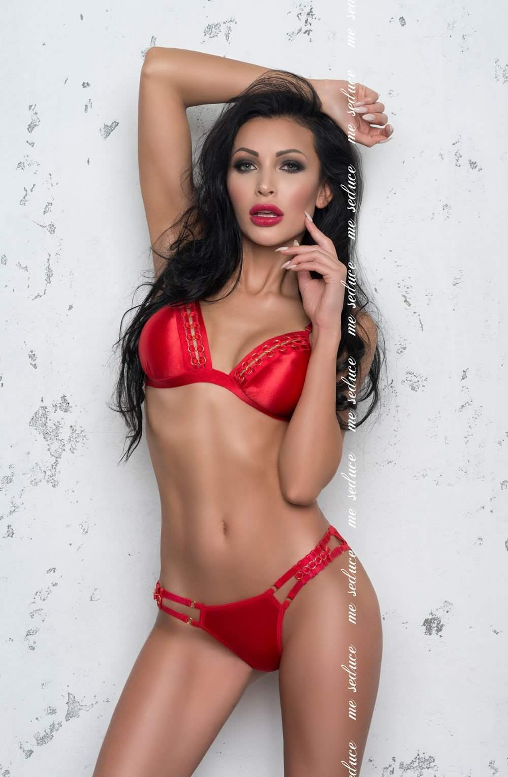 Isabella Set in Red by Me Seduce - Me Seduce - Katys Boutique Lingerie USA