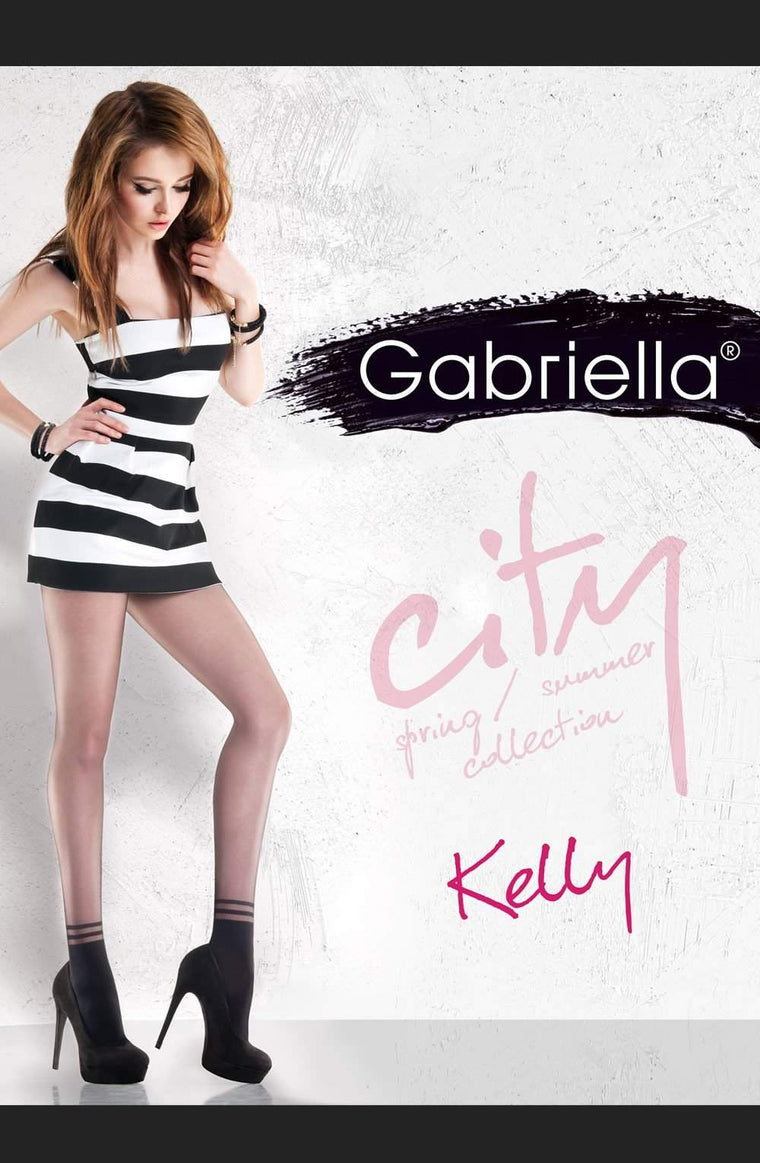 Kelly Fashion Tights in Black by Gabriella - Gabriella - Katys Boutique Lingerie USA