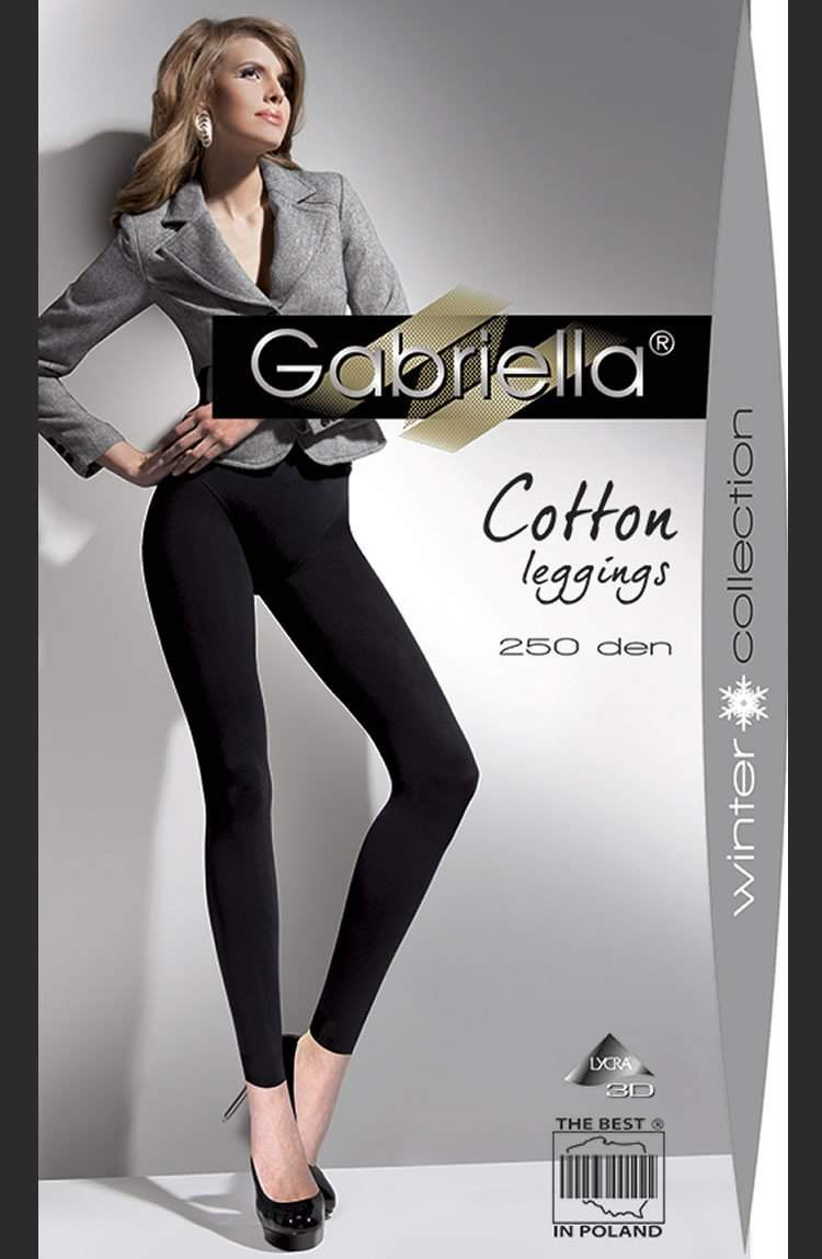 Cotton Leggings in Nero by Gabriella - Gabriella - Katys Boutique Lingerie USA