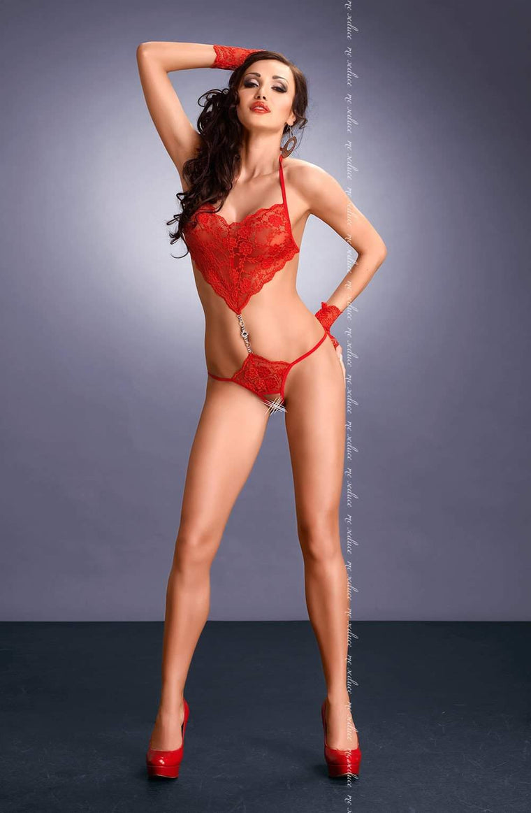 Elza Set in Red by Me Seduce - Me Seduce - Katys Boutique Lingerie USA