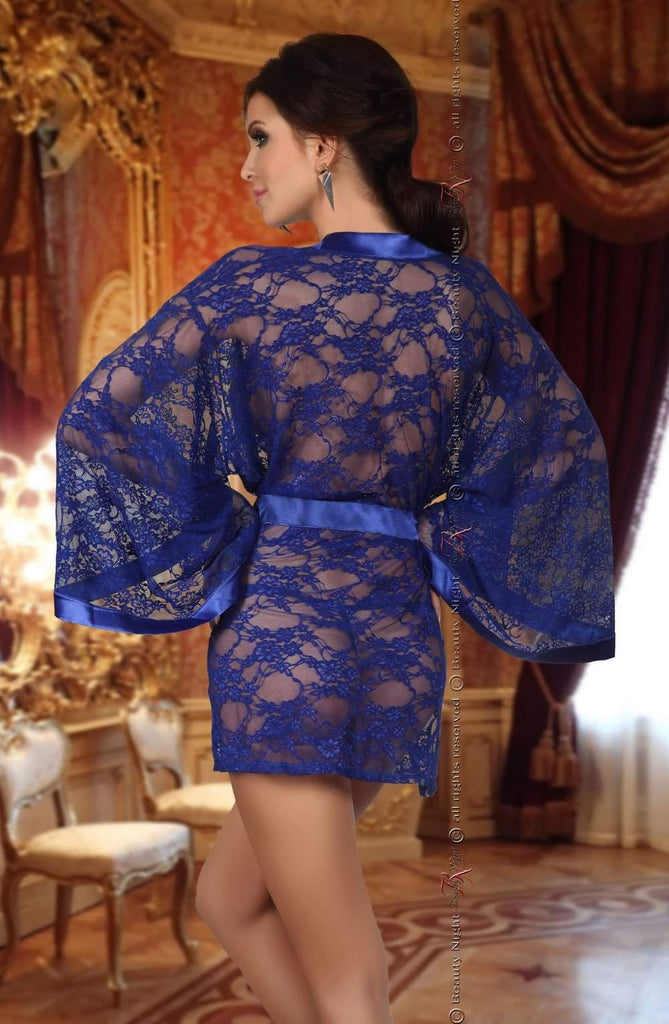 Paulette Chemise / Robe in Blue by Beauty Night - Beauty Night - Katys Boutique Lingerie USA