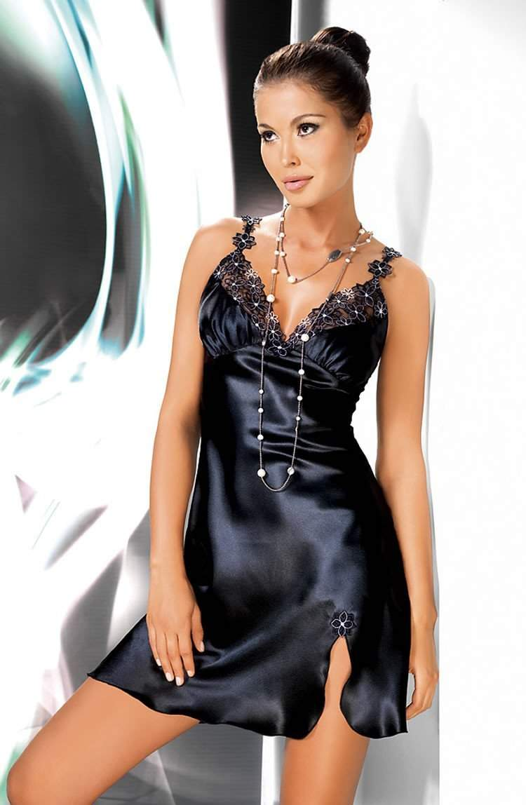 Mirabelle Nightdress in Black by Irall - Irall - Katys Boutique Lingerie USA
