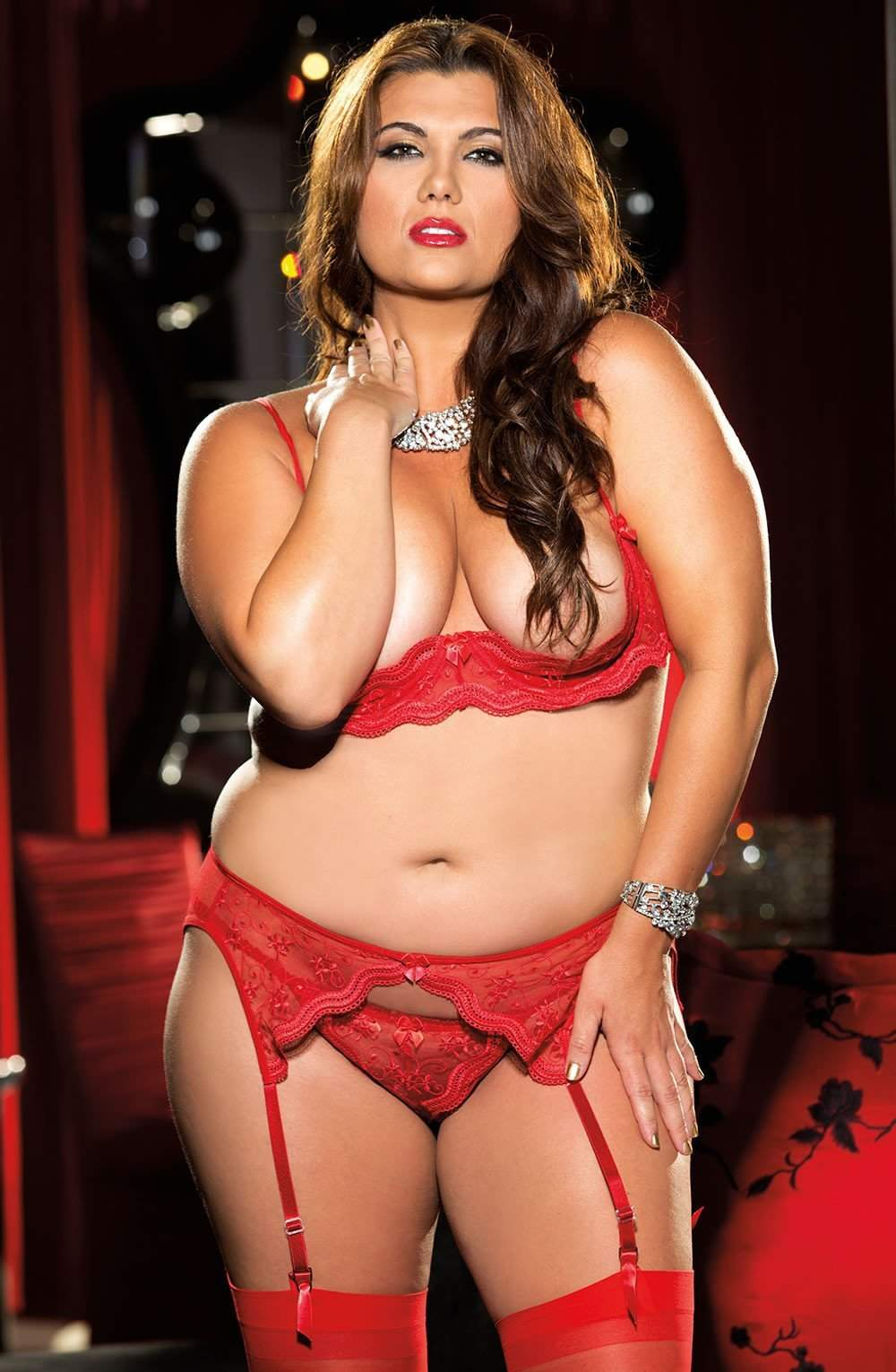 X10 Thong in Red by Shirley of Hollywood - Shirley of Hollywood - Katys Boutique Lingerie USA