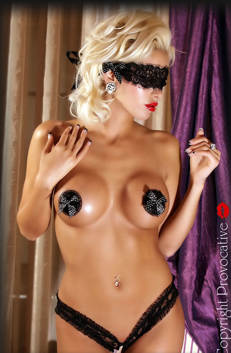 Provocative Nipple Covers in Black - Provocative - Katys Boutique Lingerie USA
