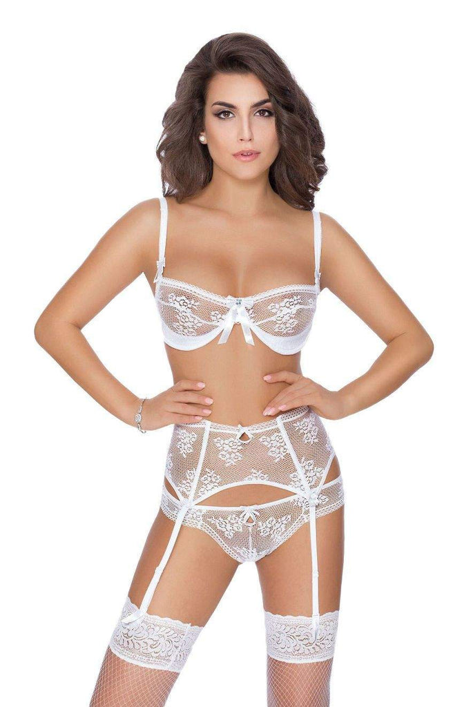 Euterpe Soft Cup Bra In White by Roza - Roza - Katys Boutique Lingerie USA
