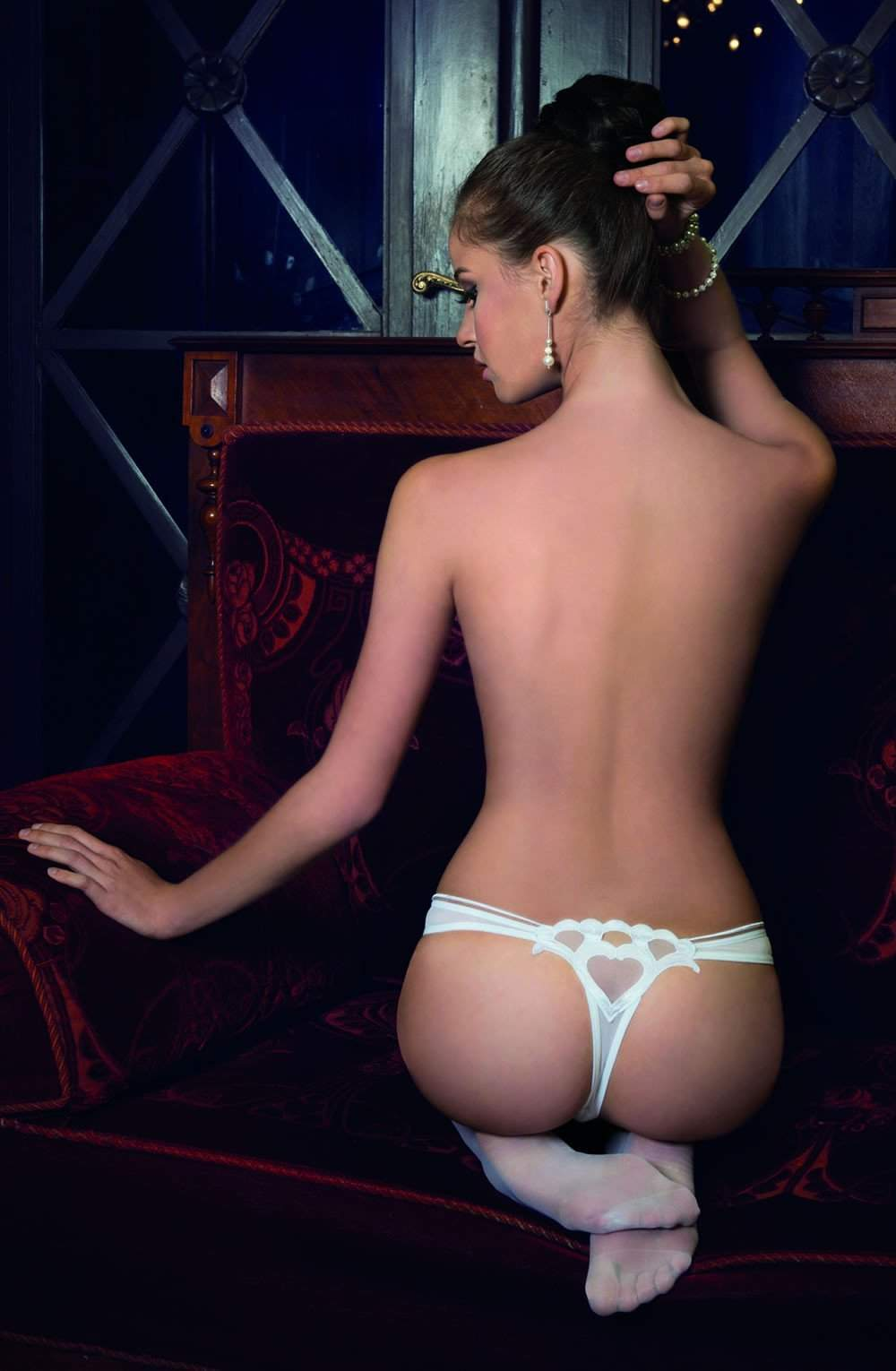 Lica Thong In White by Roza - Roza - Katys Boutique Lingerie USA
