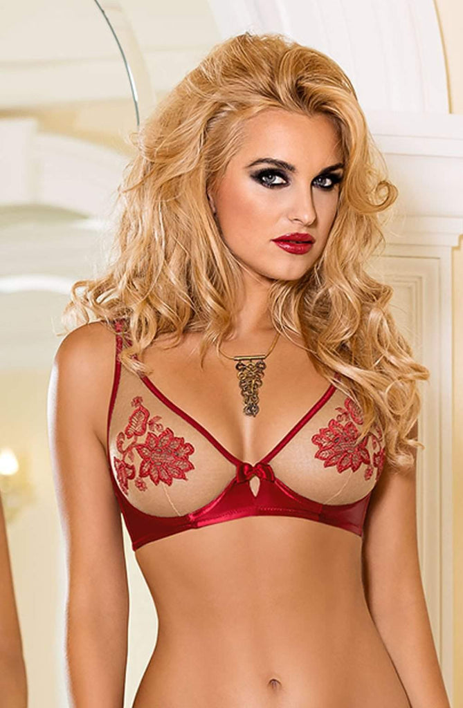 Mehendi Soft Cup Bra In Red by Roza - Roza - Katys Boutique Lingerie USA