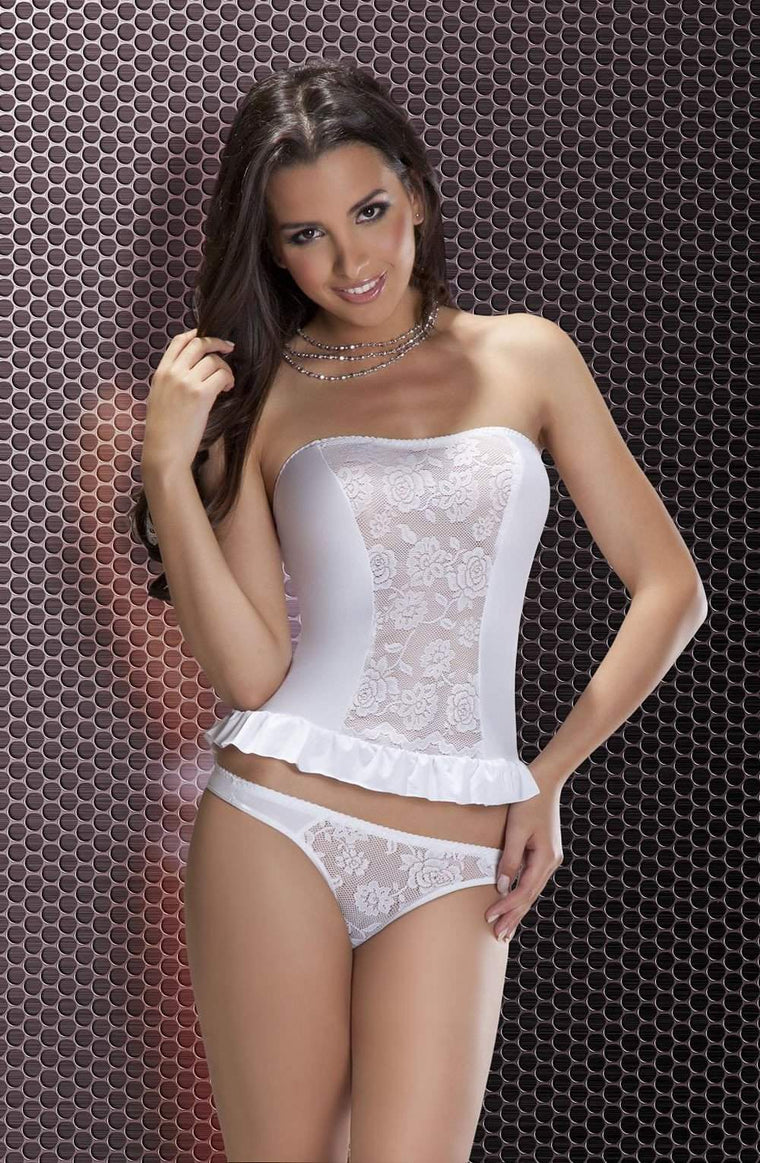 Carly Set In White by Passion - Passion - Katys Boutique Lingerie USA