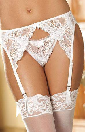 885dc1f7807 20412 Garter Belt in White by Shirley of Hollywood - Shirley of Hollywood -  Katys Boutique