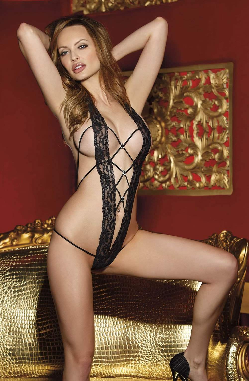 96536 Teddy in Black by Shirley of Hollywood - Shirley of Hollywood - Katys Boutique Lingerie USA