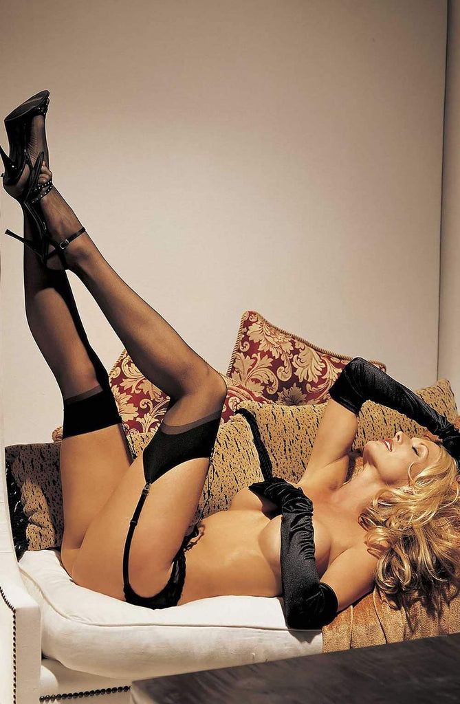 90024 Stockings in Black by Shirley of Hollywood - Shirley of Hollywood - Katys Boutique Lingerie USA
