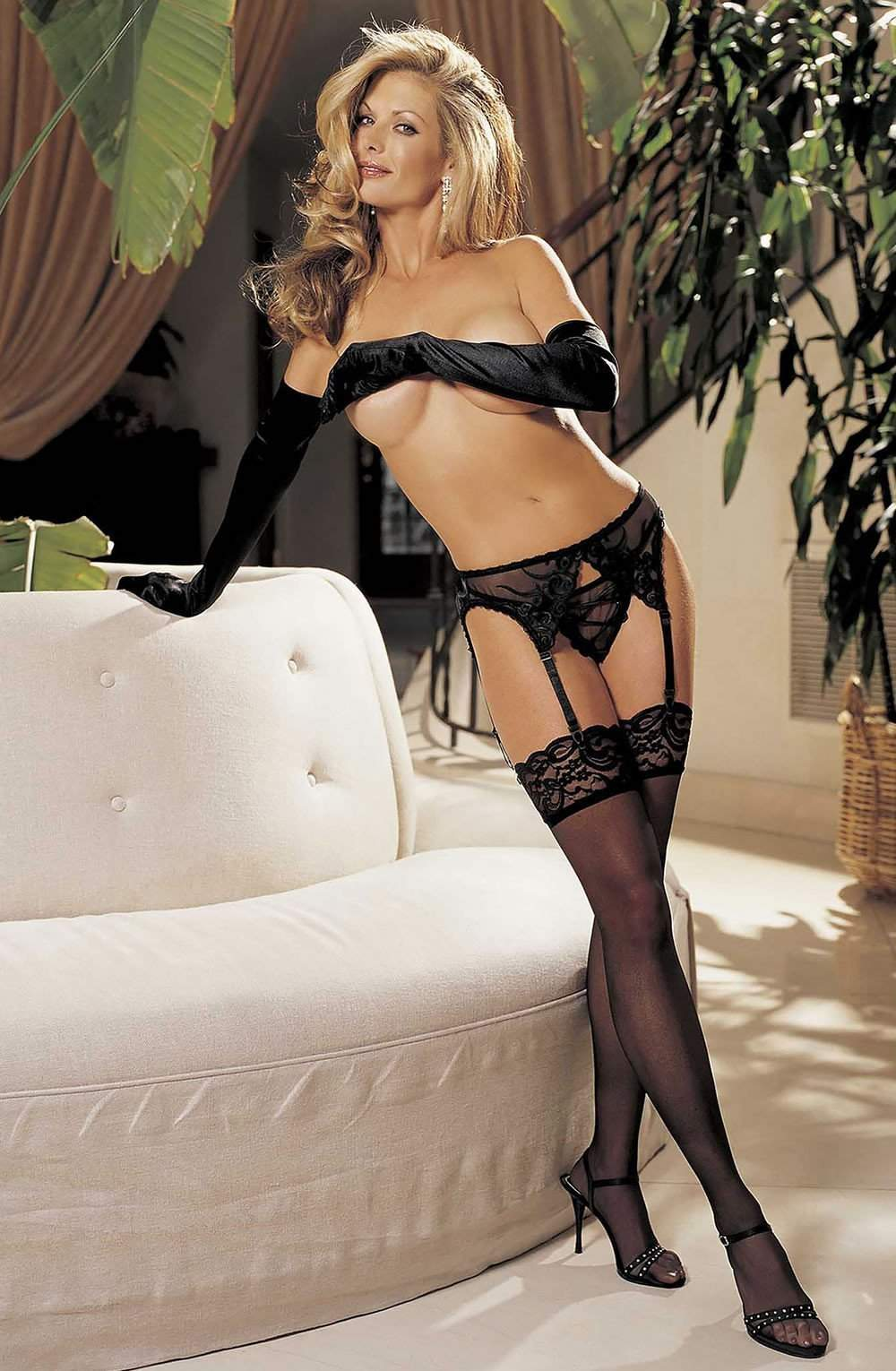 90026 Stockings in Black by Shirley of Hollywood - Shirley of Hollywood - Katys Boutique Lingerie USA