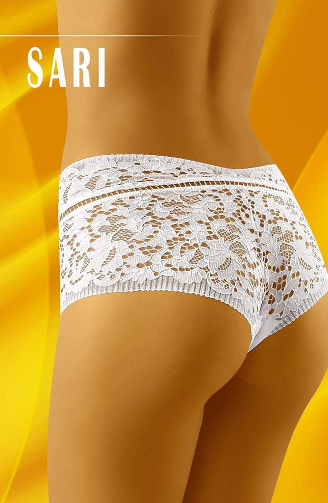 Sari Shorts in White by Wolbar - Wolbar - Katys Boutique Lingerie USA