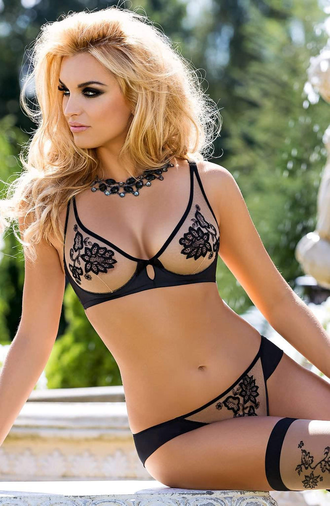 Mehendi Soft Cup Bra In Black by Roza - Roza - Katys Boutique Lingerie USA