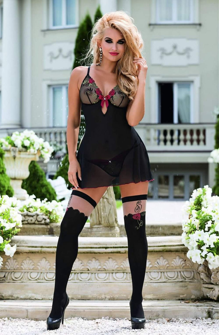 Rufina Stockings by Roza - Roza - Katys Boutique Lingerie USA