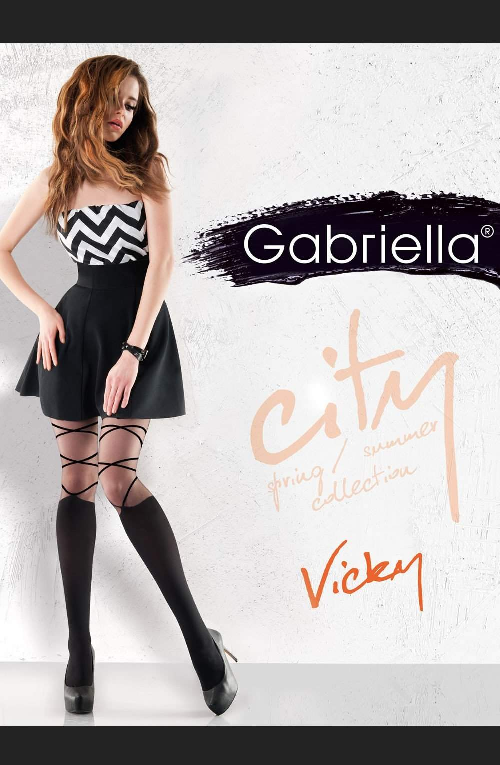 Vicky Fashion Tights in Black by Gabriella - Gabriella - Katys Boutique Lingerie USA