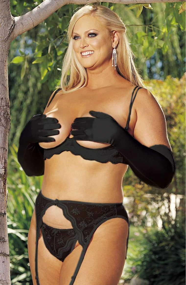 SoH-IA Suspenders Black - Shirley of Hollywood - Katys Boutique Lingerie USA