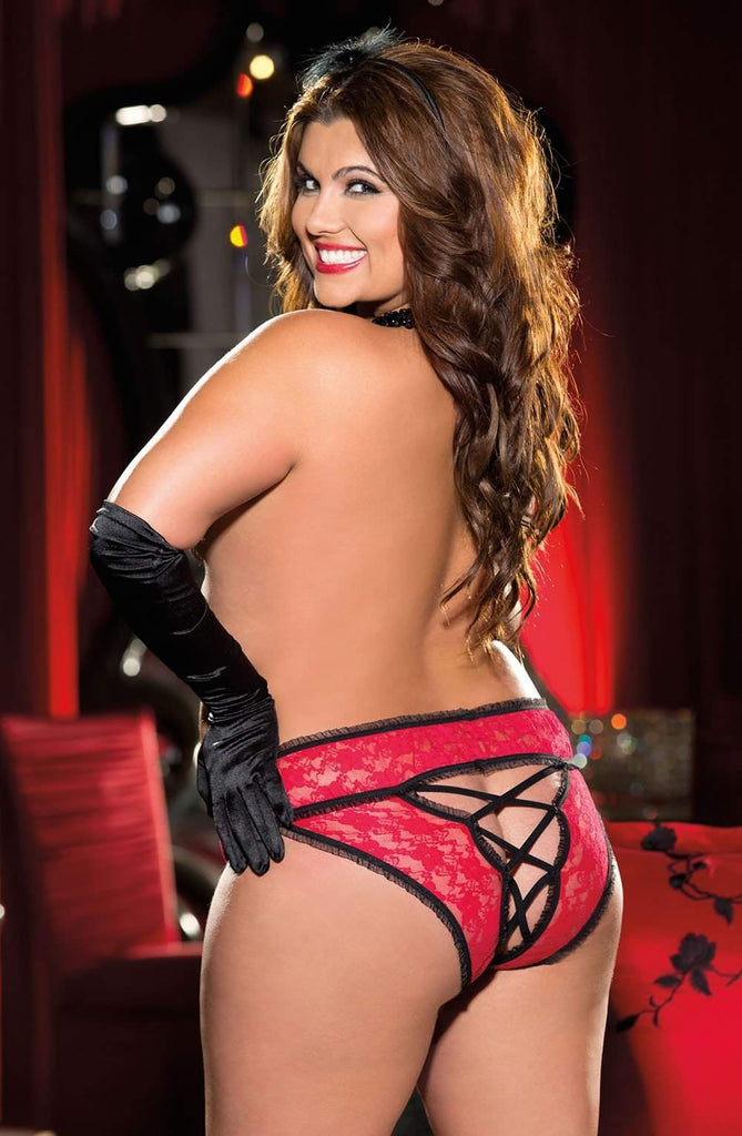 SoH-IA X25217 Red - Shirley of Hollywood - Katys Boutique Lingerie USA