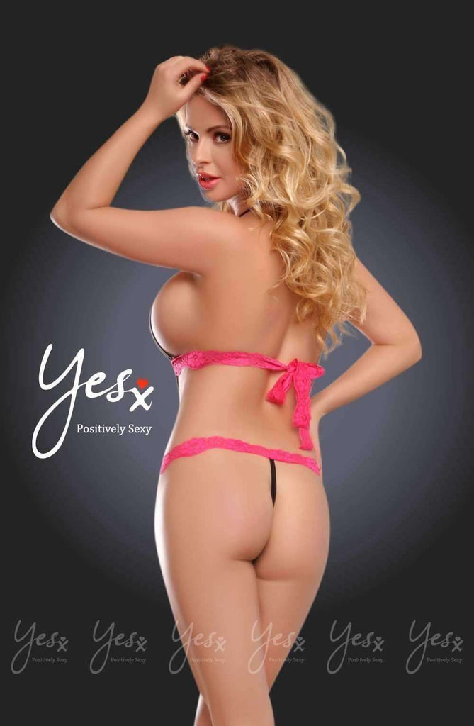 YX203 Teddy in Leopard/Rose by YesX - YesX - Katys Boutique Lingerie USA