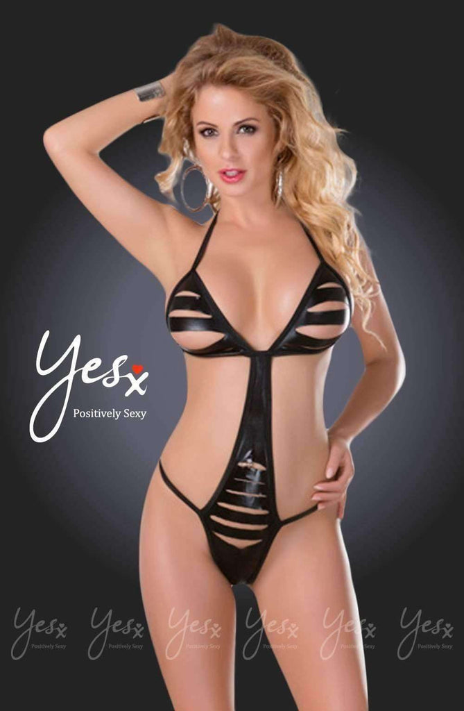 YX205 Teddy in Black by YesX - YesX - Katys Boutique Lingerie USA