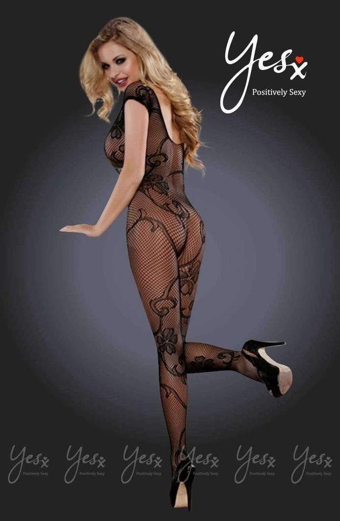 YX407 Bodystocking in Black by YesX - YesX - Katys Boutique Lingerie USA