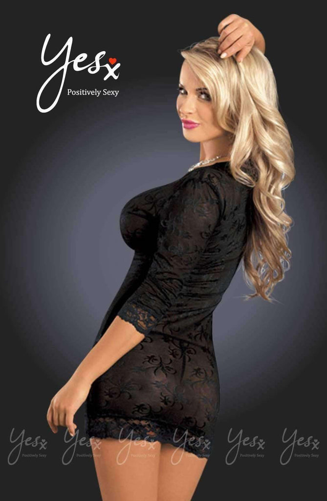 YX678 Dress in Black by YesX - YesX - Katys Boutique Lingerie USA
