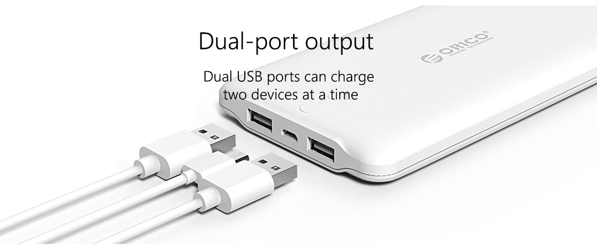 Dual-port_output_best portable charger,mobile battery charger.