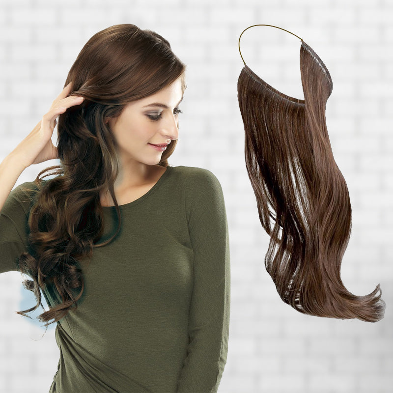 Woomaya Secret Hair Extensions With Invisible Wire Hidden Halo