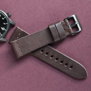 Vegetable Tanned Leather Strap - Brown