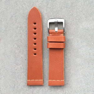 Vegetable Tanned Leather Strap - Cognac