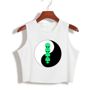 Alien Crop Top Tank