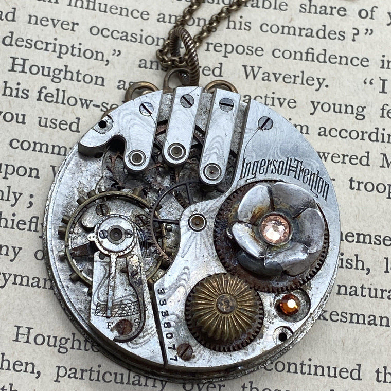 Tillie, Industrial Flower Necklace - The Victorian Magpie
