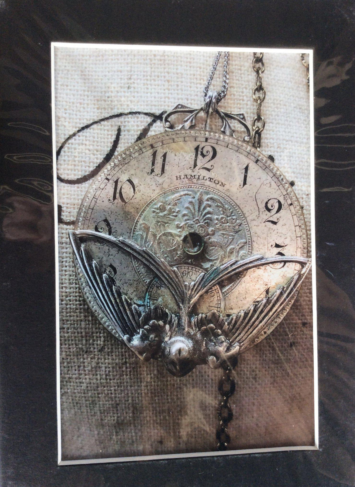 Lenore, Hamilton Pocket Watch Necklace - The Victorian Magpie