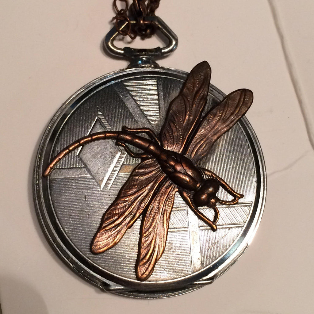 Mazie, Deco Dragonfly Pendant - The Victorian Magpie