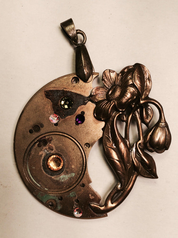 Daphne, Industrial Flower Pendant - The Victorian Magpie