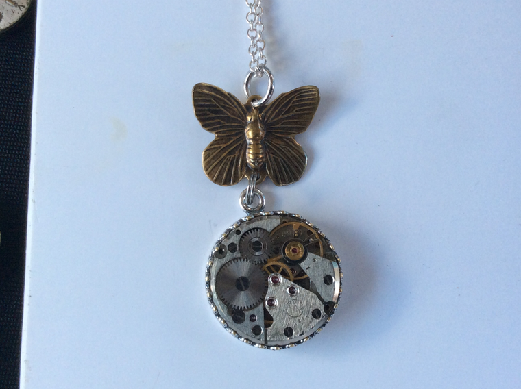 Ginny, butterfly pendant