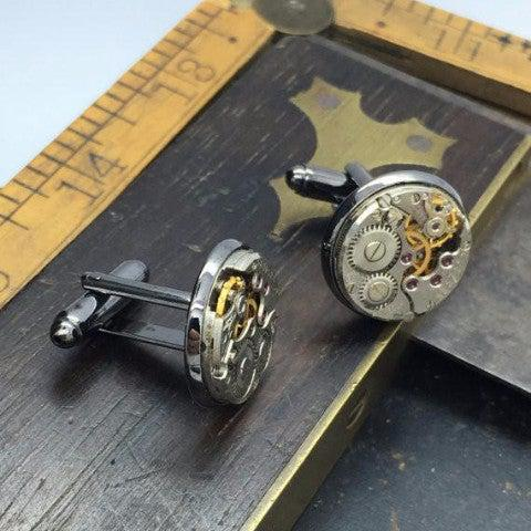 James, Gunmetal Cufflinks