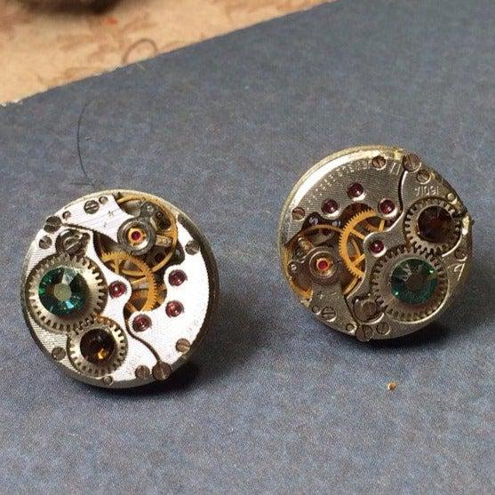 Eve, Vintage Mechanical Stud Earrings - The Victorian Magpie