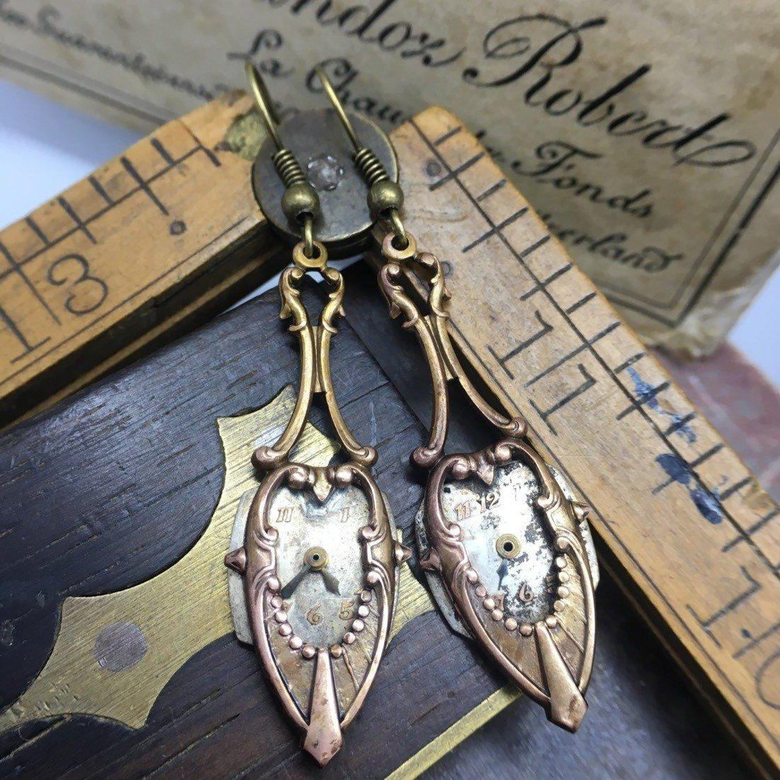 Anne, Art Deco Earrings - The Victorian Magpie